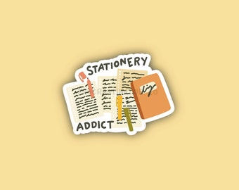 Stationery Addict Sticker