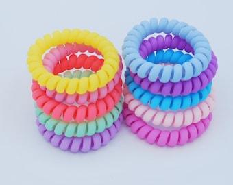 Mattes Spiral Coil Cord Hair Ties- 10 Pack 5d7a82cdb9b