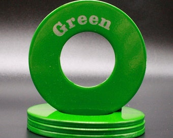 """Personalized Pitching Washers - Green 2.5"""""""