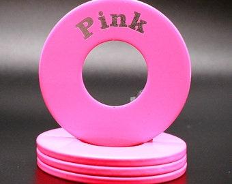 "Personalized Pitching Washers -  Pink 2.5"""