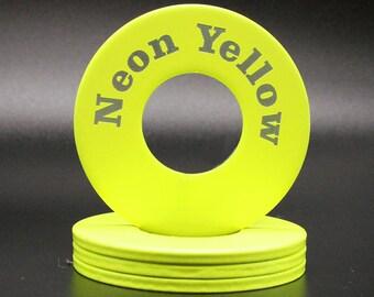 """Personalized Pitching Washers -  NeonYellow 2.5"""""""