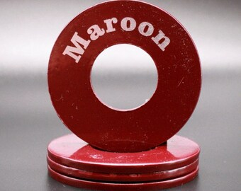 """Personalized Pitching Washers - Maroon 2.5"""""""