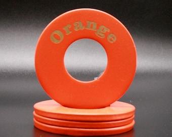 "Personalized Pitching Washers - Orange 2.5"""