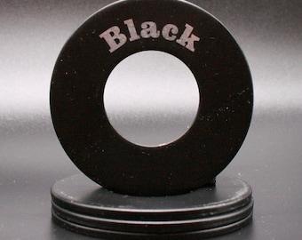 "Personalized Pitching Washers - Black 2.5"""