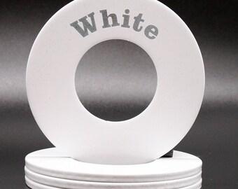 "Personalized Pitching Washers - White 2.5"""