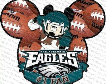 Philadelphia Eagles Mickey Mouse Head Disney Vacation Iron on Transfer  Instant Download Heat Transfer bee343df2