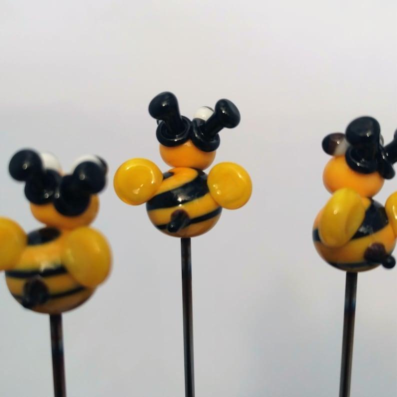 POKER Bowl Poke Glass Pipe Tool Plant Stake PokeysGlass Pokeys Honey Bee Art Glass Pipe Tool 710 420 smoker USA