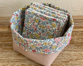 Liberty cotton washable wipes with optional pan and/or storage pan
