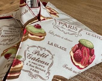 """Pie bag """"Pâtisseries de Paris"""" or """"Éclairs"""""""