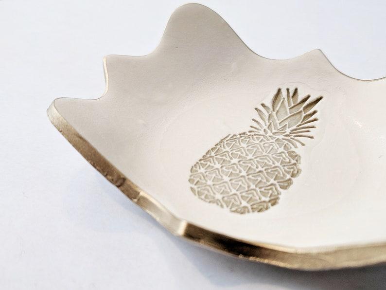 Wedding Favor Pineapple Ring DIsh PINEAPPLE RING DISH  Polymer Clay Ring Dish Housewarming Catchall Dish Trinket Tray Hostess Gift
