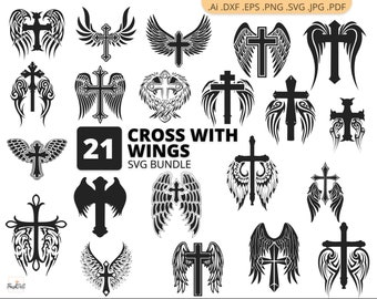 Wing Cross Clipart Lion Clip Art - Cross With Wings Clipart - Png Download  (#185693) - PinClipart