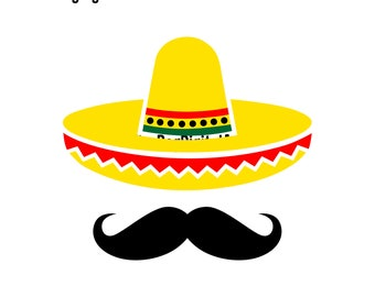 1962651dc17cb Sombrero   Mustache Svg Sombrero Svg Cinco de Mayo Svg Mexican Hat Mexico  Svg Sombrero Png Sombrero Svg for Cricut Fiesta Svg for Cricut