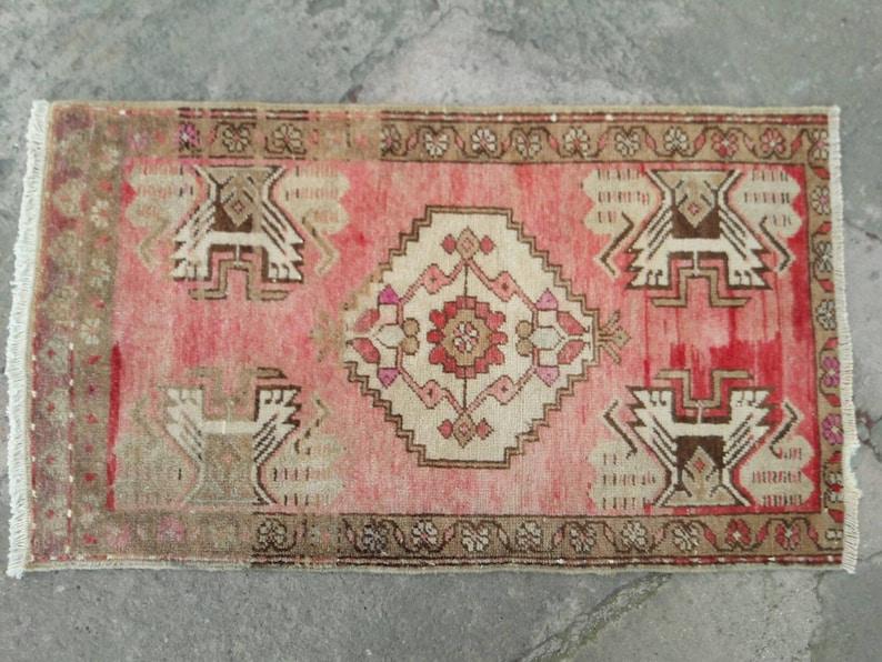 1/'7x2/'9 handmade mini rugs turkish rugs oushak rugs mini rugs vintage turkish mini rugs turkish oriental rugs oushak mini rugs small