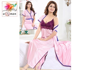 22a094812a8 Silk Nightgown Sexy lingerie Sheer Honeymoon lingerie Chiffon Slip Silk  Nighty Chemise Women Nighty Valentines day gift Gift For Her