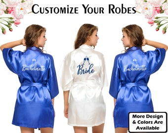 e15f6a3bb7 Satin Robes Personalized Satin Robes Custom Satin Robes Wedding Robes  Bridal Robes Bridesmaid Robes Satin Robe Gift For Bridesmaid