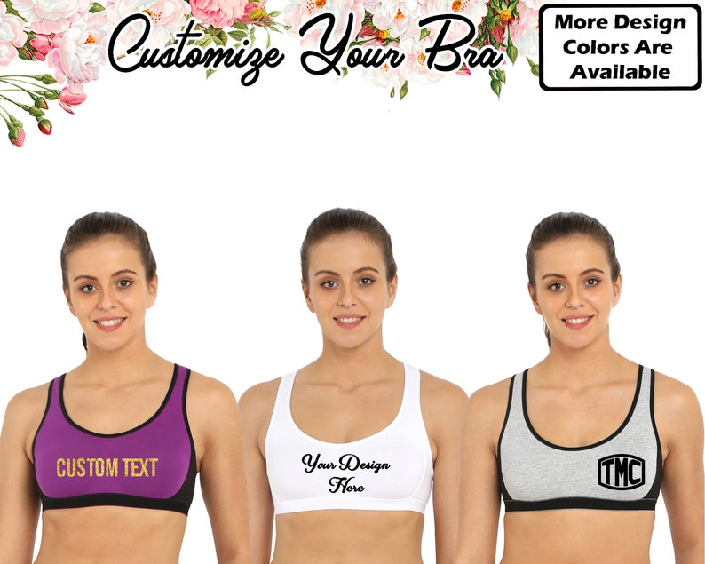 Custom Sports Bras >> Customize Sport Bra Personalized Bra Custom Sport Bra Your Etsy