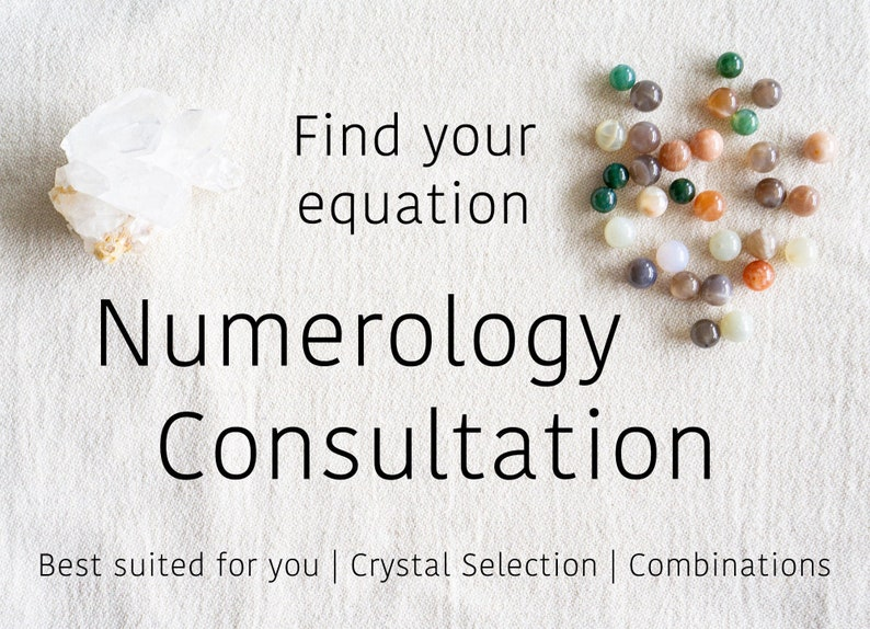 Numerology Consultation to help you find the best crystals and image 0