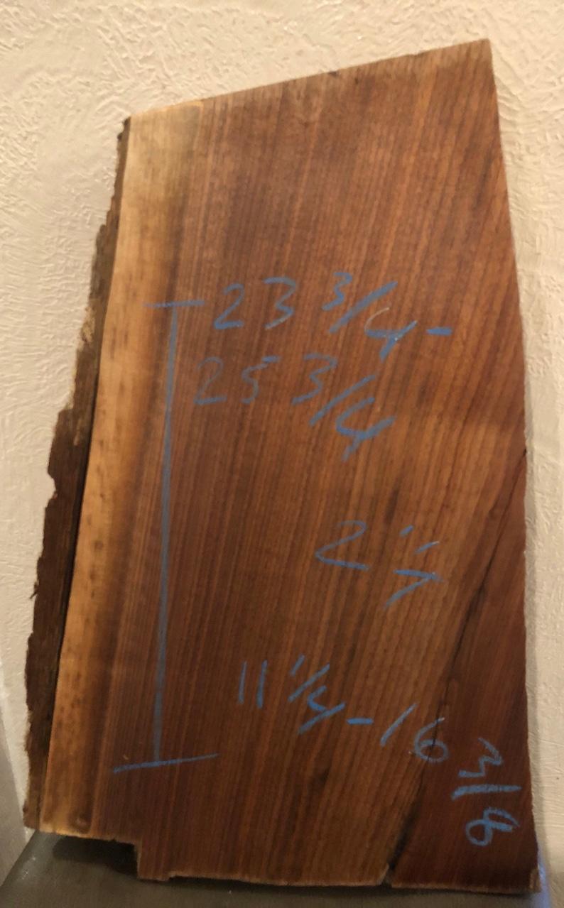Black Walnut live edge kiln dried project board slab 25 34-23 34 x 16 38-11 14 x 2 thick