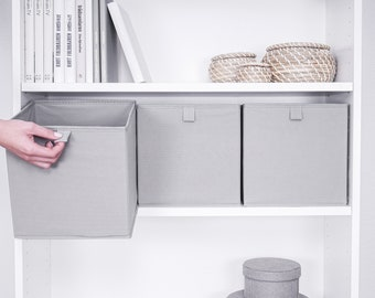 Storage box for IKEA Billy shelf in different colors | high-quality and stable fabric box as shelf insert for order