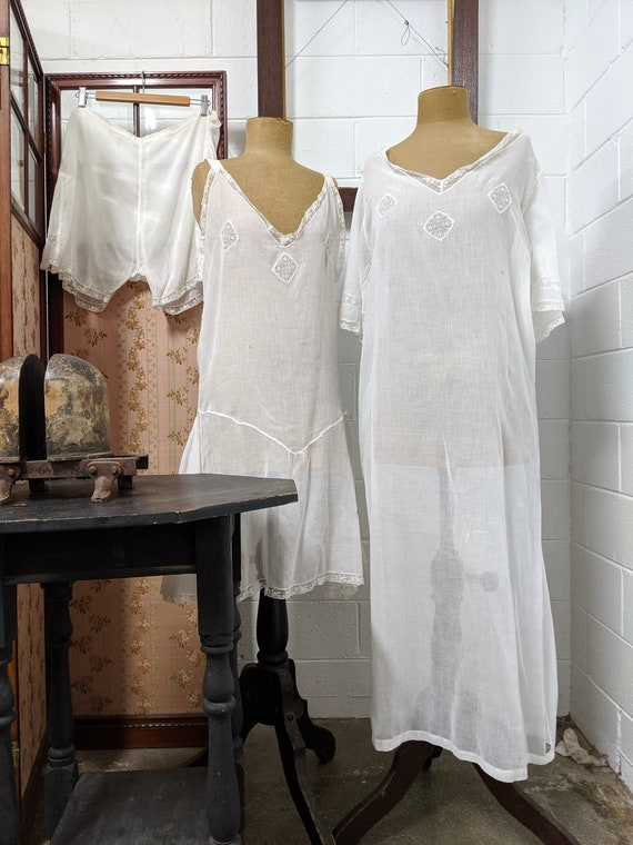1920s Three Piece Trousseau Bridal Set - image 1