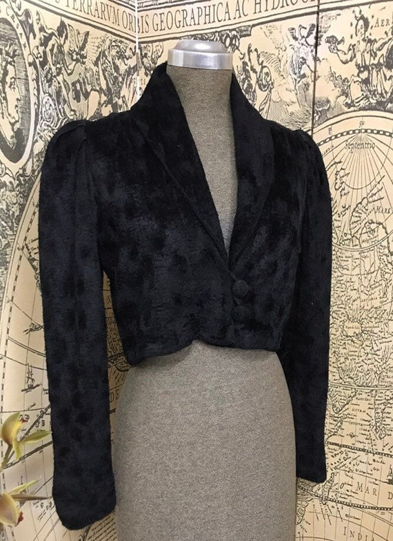 1940s Chenille Cropped Jacket