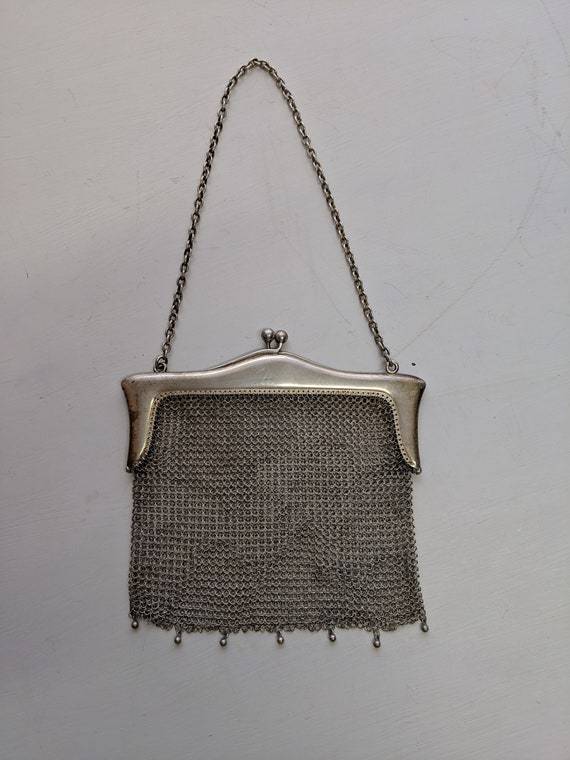 Sterling Silver Mesh Antique Purse