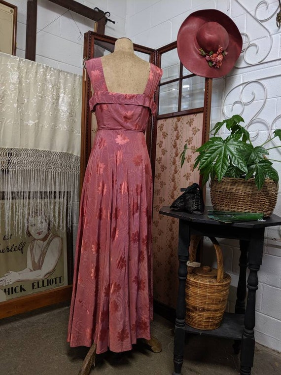1940s Asymmetrical Evening Gown - image 4