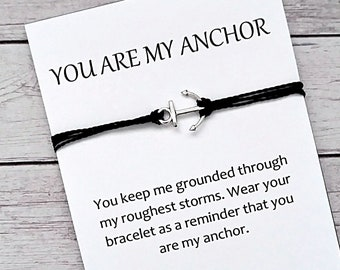 Gifts For Friends Bff Anchor Friendship Bracelet Best Friend Gift Thank You Birthday