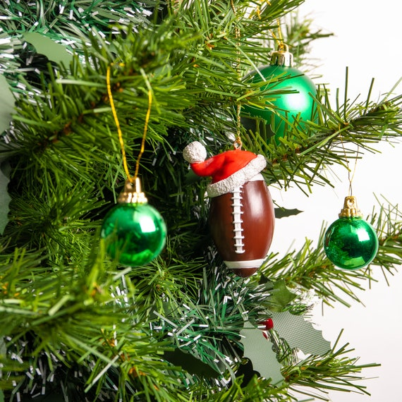 Santa Sport American Football Christmas Tree Decoration | Etsy