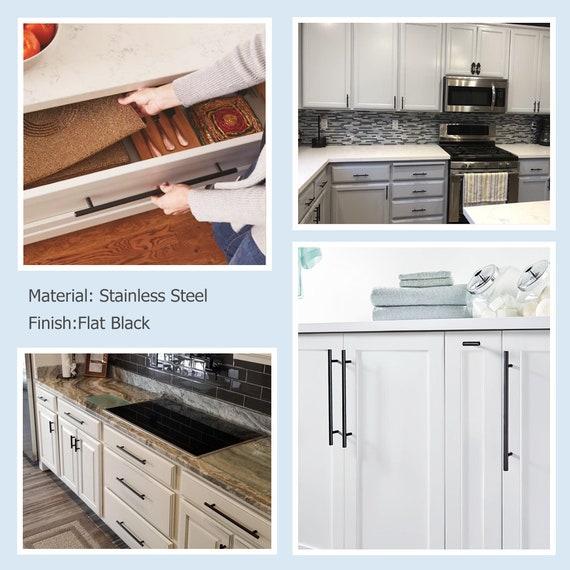 3 in Gold Drawer Pulls Black Kitchen Cabinet Handles Brushed Nickel 76mm  Drawer Handles Cabinet Pulls Modern Cabinet Furniture Hardware