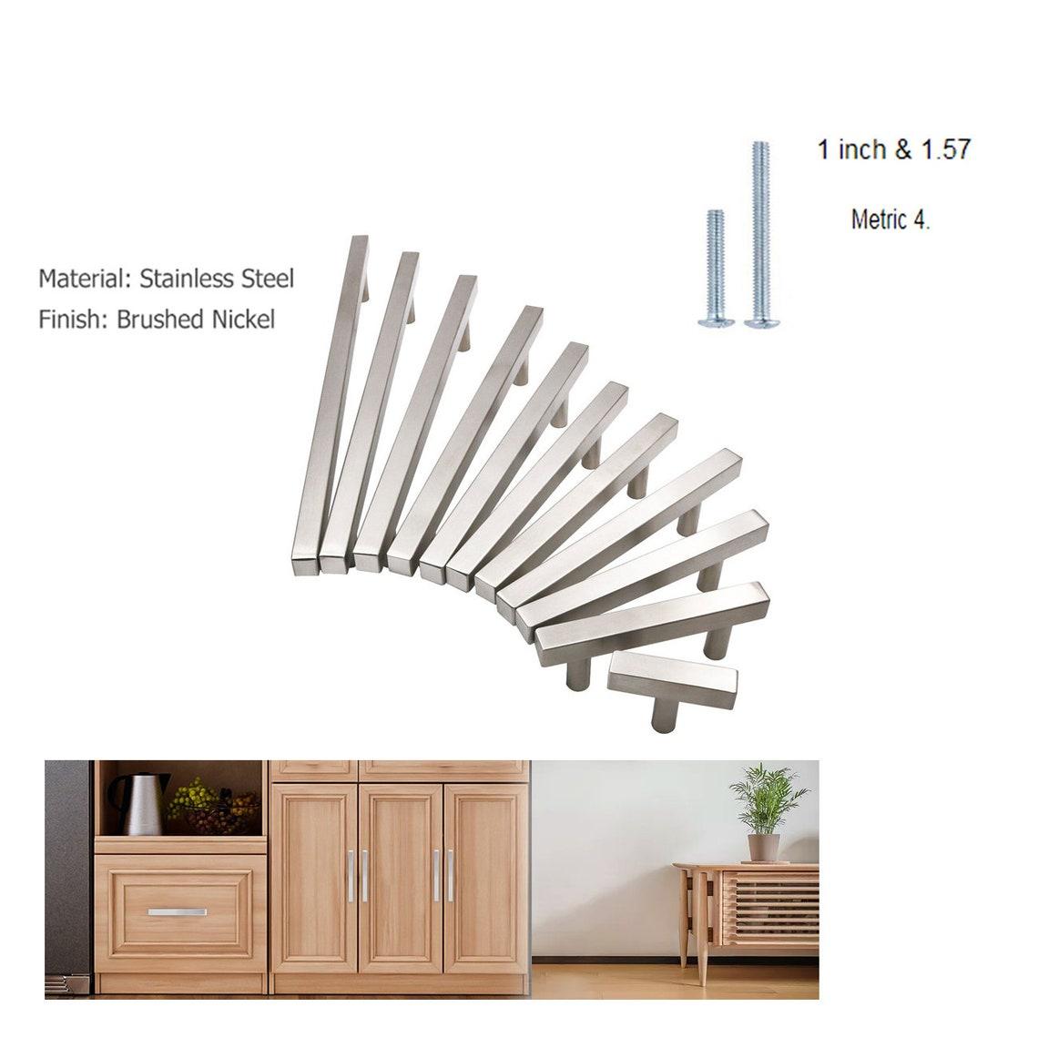 Kitchen Drawer Pulls Modern Square Bar Cabinet Door Handles image 0