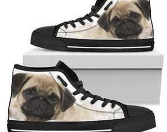 cfac4e5a675 Women s Pug High Top Sneakers - Black Sole