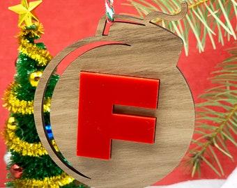 F-Bomb Ornament   2020 Holiday Ornament, FCK it, F Bomb, Explicit, My Last F*ck, Flying F*ck, Eff Bomb