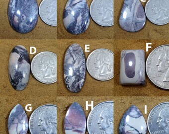 "Porcelain Jasper ""Exotica"" ""Sci-Fi""  Cabochon Mix Shapes & Sizes, Nurturing Jasper Connector Pendant Designer Jewelry Gemstone"