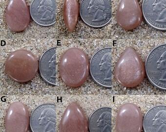 Peach Moonstone Cabochon Sparkle Moonstone jewelry Making Gemstone Healing Chakra Stone