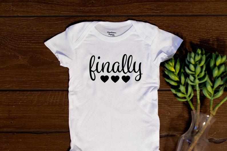 FINALLY ONESIE IVF baby Rainbow Baby In Vitro   Etsy