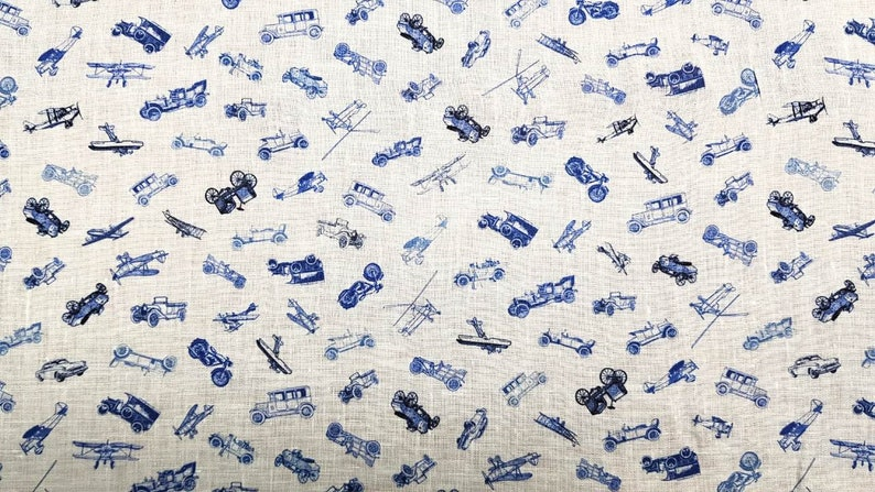Printed 100% linen shirting italian fabrics by Leggiuno