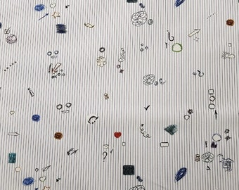 Printed 100% cotton  shirting  italian fabrics by Leggiuno