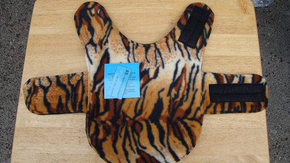 Tiger Print Dog Coat For All Size Dogs