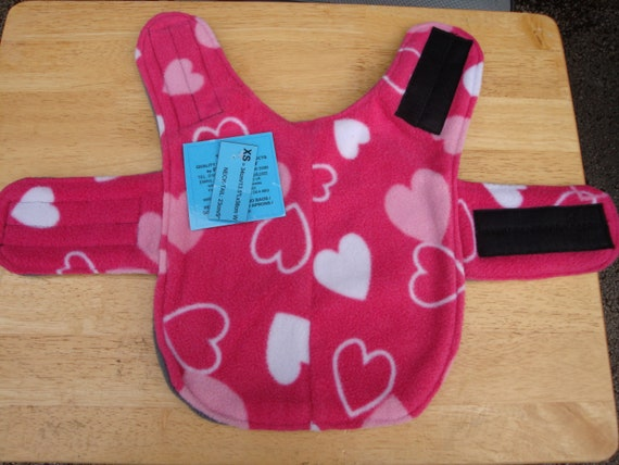 Pink Heart Print Dog Coat For All Size Dogs