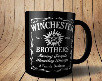 089caccbed2 Supernatural Coffee Mug - Personalized Supernatural Winchester Mug - 15 &  11 oz Coffee Cup - Sam Winchester - Dean Winchester Mug