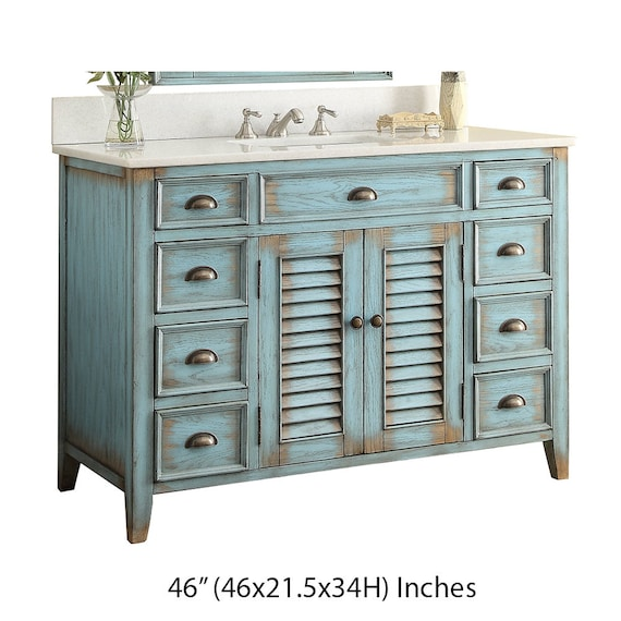 No Top Only Farmhouse Rustic Bathroom Sink Vanity Etsy