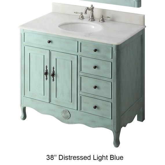 38 Rustic Distressed Farmhouse Style, 38 Bathroom Vanity