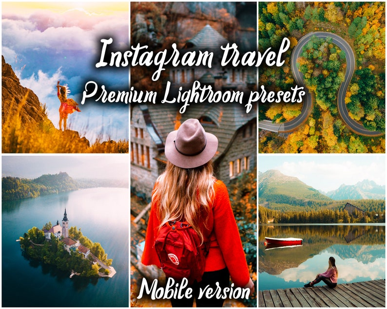18 Mobile Adobe Lightroom presets - Instagram travel premium pack