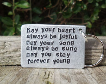 a59d6d87b05f4 Bob Dylan FOREVER YOUNG Music Gifts For Him Her Boyfriend Girlfriend Gifts  Unique Anniversary Keepsake LYRICS Song Birthday Gifts For Men