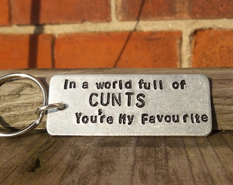 556f9a534a53 In A World Full of C NTS You re My FAVOURITE Funny Gifts For Him Keychain  Keyring Birthday Gifts Novelty Offensive Present For Men Her Cunt