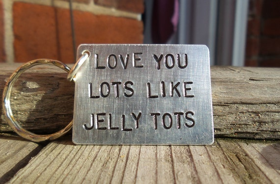 Stamped Cutlery Valentine/'s Day Gift I Love You Lots Like Jelly Tots Jelly Tots Gift! Gift for Mum Gift for Dad Hand Stamped Spoon