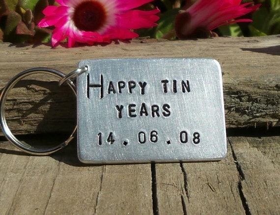 10th Ten year Anniversary gift SOULMATE Aluminium Tin PERSONALISED Gifts For Him