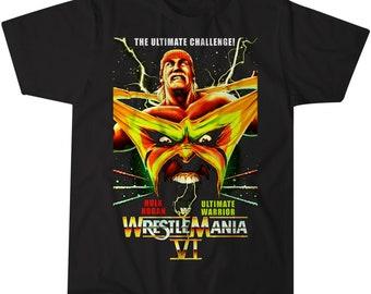 79e958d222a3 Wrestlemania 6 VI Hulk Hogan Ultimate Warrior Vintage Retro T-Shirt
