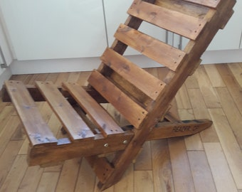 Items Similar To The Original Pallet Chair Handcrafted